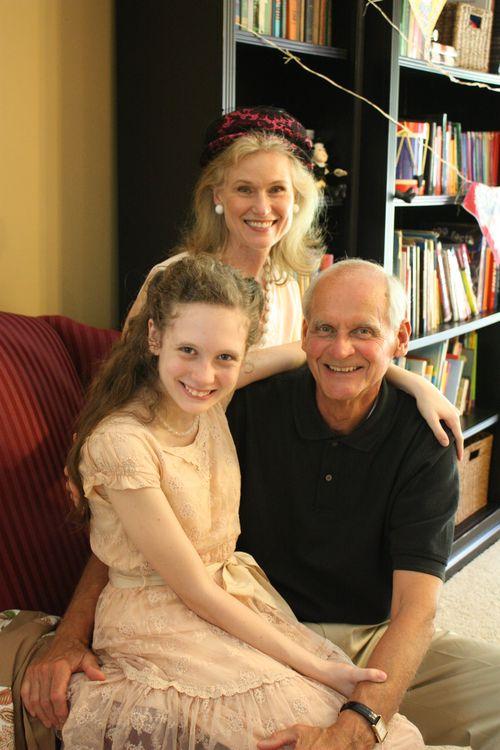 Olivia with Granddad and Grandma