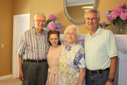 Olivia with her family from Arkansas