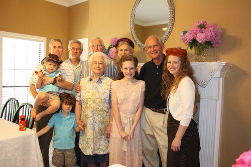Family at Olivia's party
