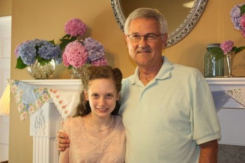 Olivia with her Great-Uncle Robert
