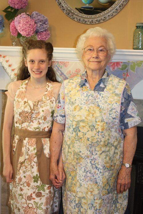 Olivia and her Great-Grandma