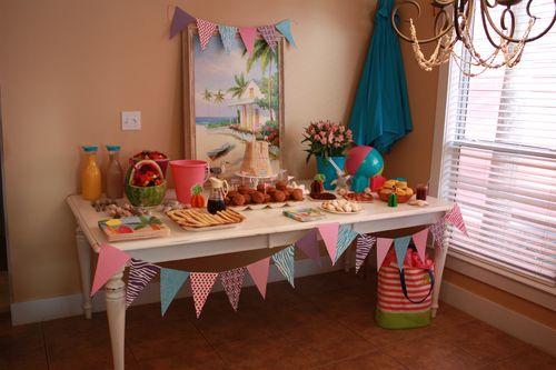 Beach Birthday Party Table
