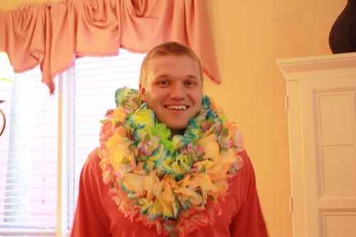 Cousin Stephen with leis