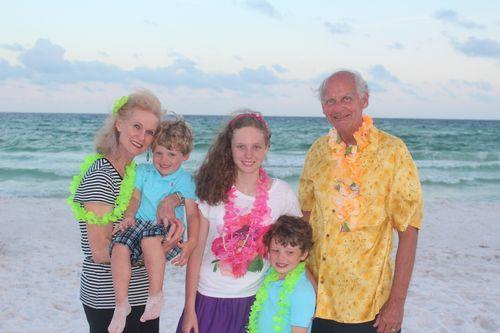 Olivia, Isaac, and Joshua with Grandma and Granddad