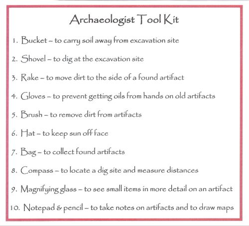 Archaeologist Tool Kit