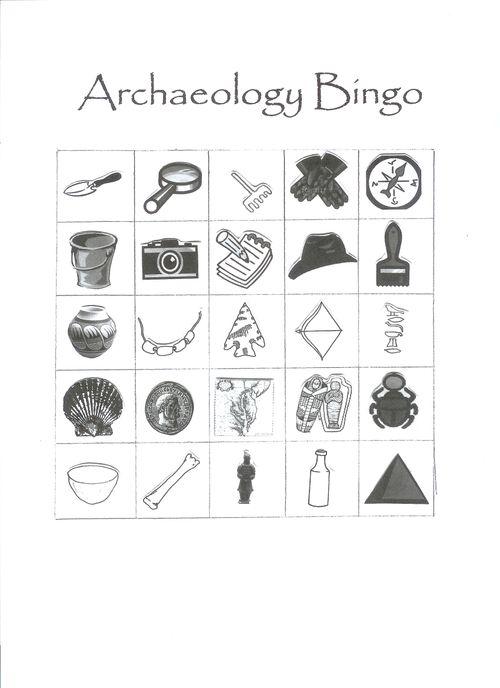 Archaeology Bingo