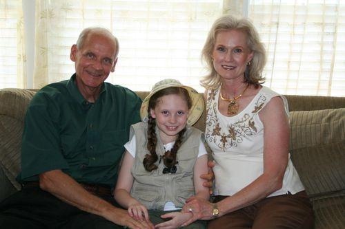 Olivia with Granddad & Grandma